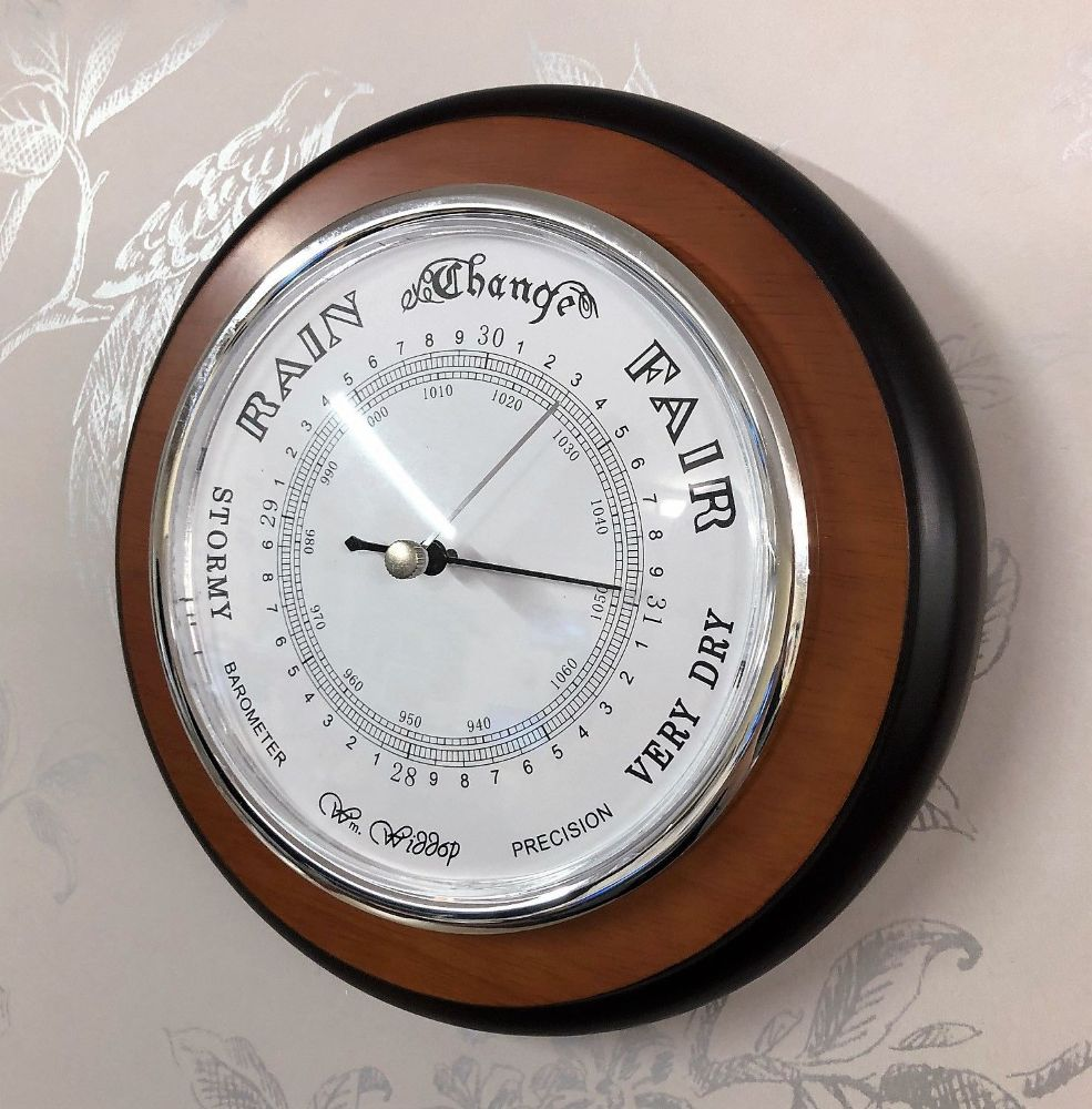 Round Wall Barometer Weather Clock 19cm
